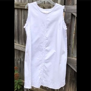 NWOT Vince Camuto raw hem dress white size 1X